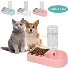 New Listing500ml Automatic Pet Dog Cat Food Water Dispenser Dish Bowl Feeder Drinking Feede