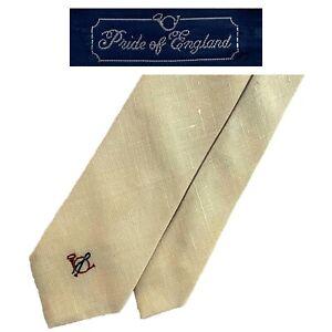 Pride Of England Briar Cream Tie - Made For The Hub University 55% Irish Linen