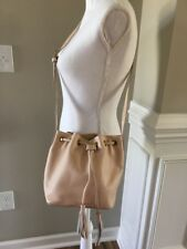 New J Crew Factory LEATHER BUCKET BAG WITH TASSELS Dusty Ginger Small E8014