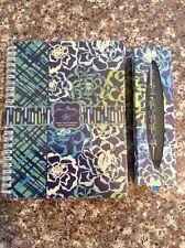 Vera Bradley Mini Notebook, Ball Point Pen,  - New - Katalina Blues
