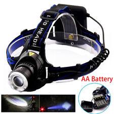 AA Battery head frontal flashlight led T6 Torch Lamp Headlamp bright headlight