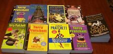 Lot of 9 Terry Pratchett Books - 8 Discworld Books & Good Omens