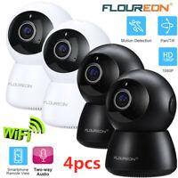 4x 1080P Wireless Security IP Camera 2-Way Audio Night Vision Home Surveillance