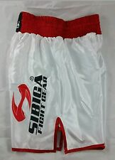 Boxing shorts White Red L size