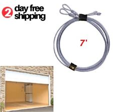 Replacement Garage Door Lift Cable for Torsion Springs Safety Pair Heavy Duty 7'