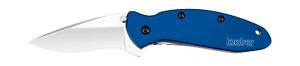 Kershaw Scallion Liner Lock Knife Navy Blue Anodized Aluminum 420HC 1620NB