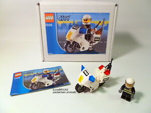 LEGO CITY POLICE MOTORCYCLE SET 7235 RIDER MINIFIGURE 100% COMPLETE GUARANTEE