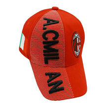 AC MILAN RED COUNTRY FLAG FIFA SOCCER WORLD CUP EMBOSSED HAT CAP .. NEW