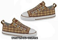 KIDS Boys Girl CONVERSE All Star LACELESS Brown SLIP ON Trainers Shoes UK SIZE 8