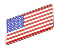 Aufkleber Amerika USA 3D Auf Kleber Schriftzug Flagge Metall selbstklebend