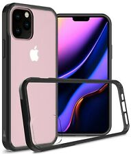 Clear With Black Rim Hybrid TPU Bumper Phone Case For Apple iPhone 11 Pro Max