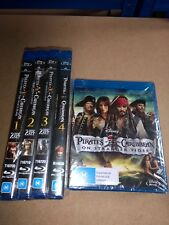 Pirates Of The Caribbean - 4 Film Blu-Ray Bundle - New & Sealed