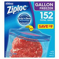 Ziploc Easy Open Tabs Freezer Gallon Bags (152 ct.) FREE SHIPPING