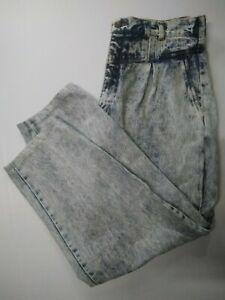 VINTAGE ladies size 18 jeans 80s acid wash mom retro stonewash bleached