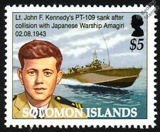 JFK John F. Kennedy PT-109 Patrol Torpedo Boat Attack Craft WWII Warship Stamp