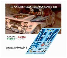 DECALS FIAT 131 ABARTH ALEN RALLY MONTECARLO 1981