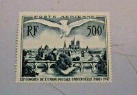 FRANCIA 1947 - P.A. 500 FR. VEDUTA DI PARIGI XII CONGRESSO U.P.U. nuovo **
