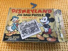 More details for rare antique 1939 disneyland off to pleasure island jigsaw puzzle in orig box