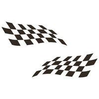 Rennflagge Aufkleber Racing Flag Flaggen Rennsport Flags Schwarz Auto Motorrad