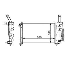 Kühler Wasserkühler Fiat Punto Van 188 1,2i 59kW/80PS 44kW/60PS 09/99-12/10
