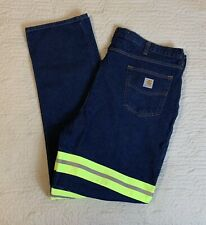 Carhartt Work Blue Jeans Men Size 42x36 Reflective Relaxed Fit Big Tall Dark