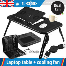 Laptop Lap Desk Foldable Table e-Table Bed with USB Cooling Fans Stand TV Tray I