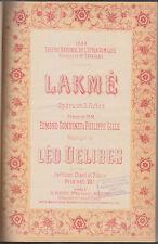 C1 DELIBES - LAKME Partition EDITION ORIGINALE 1883 Menestrel Heugel RELIE
