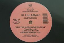 """IN FULL EFFECT And The World Knows That/Work Your Body 12"""" Single SEALED Electro"""