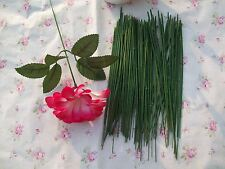 25cm 50pcs Floral Wire Green for Artificial Flower Christmas Decor