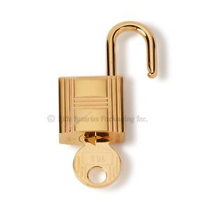 BRAND NEW, MINT 2021 Authentic Hermes Gold Padlock & 2 Keys Set Plastic Still On