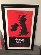 mondo olly moss an american werewolf in london signed framed poster red variant