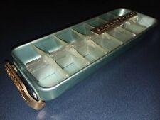 New listing Vintage Frigidaire Quickube Aluminum Pull Handle Aqua Ice Cube Tray