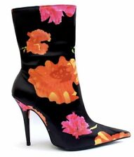 JEFFREY CAMPBELL Women's High Heeled Ankle Boot Floral EU38 MSRP $200+