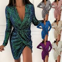 Women Maxi Party Summer Short Canonicals V-neck Long Sleeve Sexy Fashion Dress