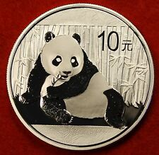 2015 CHINESE PANDA DESIGN 1 OZ .999% SILVER ROUND BULLION COLLECTOR COIN GIFT