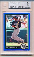 GIANCARLO MIKE STANTON 2010 BOWMAN CHROME BLUE REFRACTOR RC #198 #'D /150 BGS 9