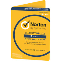 Norton Security Deluxe 2018 UK EU 5 devices 1 year PC/MAC/iOS/Android