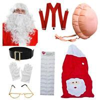 SANTA CLAUS SET ULTIMATE FATHER CHRISTMAS COSTUME CHOICE ADULTS XMAS FANCY DRESS