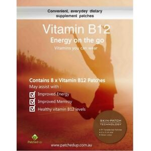 Patched Up Vitamin B12 Energy Patch Methylcobalamin