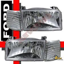 92 93 94 95 96 Ford F150 F-250 Bronco Headlights & Corner Signal Lights Chrome
