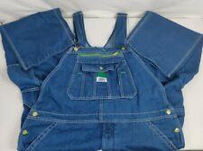 Mens Liberty Bib Overalls Coveralls 40x30 Blue Denim Farmer Carpenter Workwear