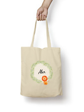 Lion Tote Bag PERSONALISED Quality Natural Cotton Shopper Animal Cute Gift
