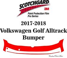 3M Scotchgard Paint Protection Film Pro Serie 2017 2018 Volkswagen Golf Alltrack