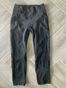 .Women's Lululemon Black Tights/ Pants Size 8