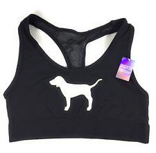 (PINK) VICTORIA'S SECRET NEW BLACK EXERCISE BRALETTE ~Cute Doggy~