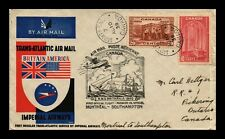 DR JIM STAMPS MONTREAL SOUTHAMPTON AIRMAIL FIRST FLIGHT CANADA COVER