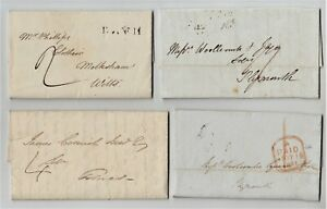 Lot of 4 GB Pre stamp Covers Entire - 1796 to 1841 - Postal History