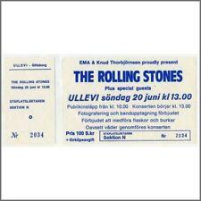 Rolling Stones Ullevi Stadium 1982 Concert Ticket (Sweden)