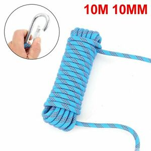 Heavy Duty Rock Climbing Rope Cord 10m 10mm 1200kg Outdoor Safety Use Emergency