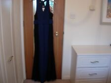 Jacques Vert Jersey and Lace Maxi Dress -navy/black -size 22